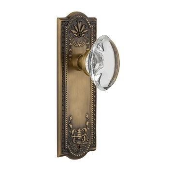 Nostalgic Warehouse Meadows Backplate with Oval Crystal knob