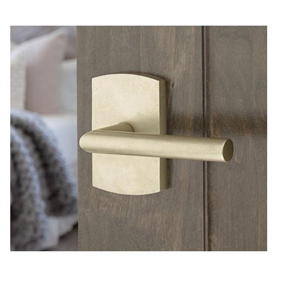 Emtek 7100MA Sandcast Bronze Mariposa Door Lever Set Tumbled White Bronze (TWB)
