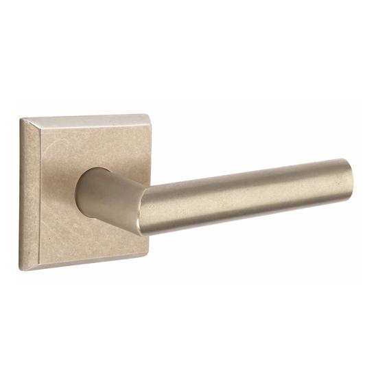 Emtek 7111MA Sandcast Bronze Mariposa Door Lever Set Tumbled White Bronze (TWB)