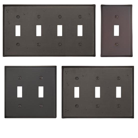 Emtek 29111, 29112, 29113, 29114 Rustic Toggle Switch Plate