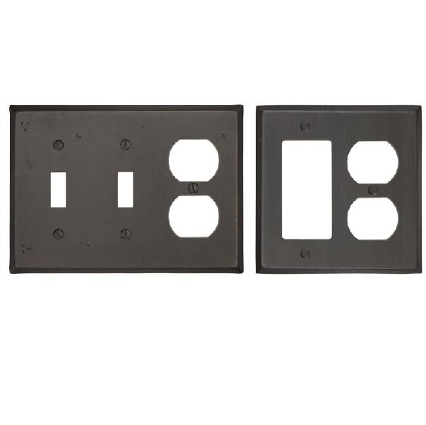 Emtek 29141, 29142, 29143 Rustic Combination Switch Plate