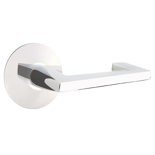 Emtek Brass Argos Door Lever Set with Disk Rose Polished Chrome