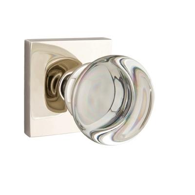 Exceptional Mtek Modern Providence Crystal Door Knob Set With Square Rose Polished  Nickel