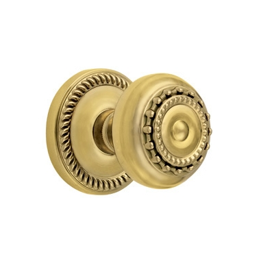 Grandeur Parthenon Knob with Newport Rose Polished Brass