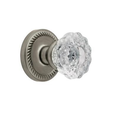 Grandeur Versailles Knob with Newport Rose Satin Nickel