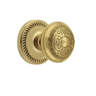 Grandeur Windsor Knob with Newport Rose Polished Brass