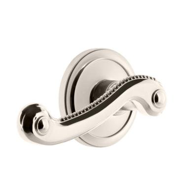 Grandeur Newport Lever Set with Circulaire Rose Polished Nickel