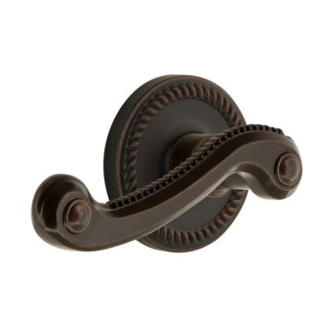 Grandeur Newport Lever Set with Newport Rose Timeless Bronze