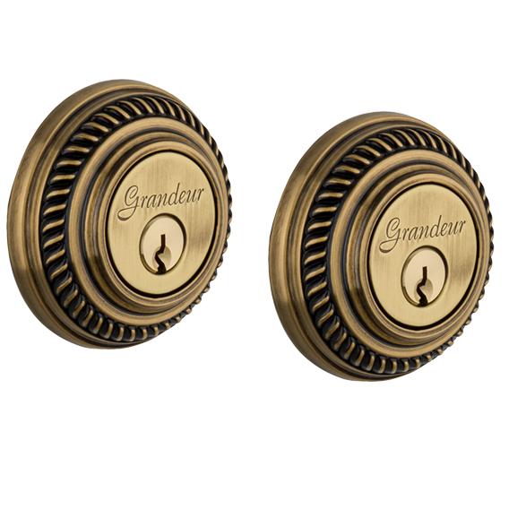Grandeur Newport Double Cylinder Deadbolt Vintage Brass (VB)