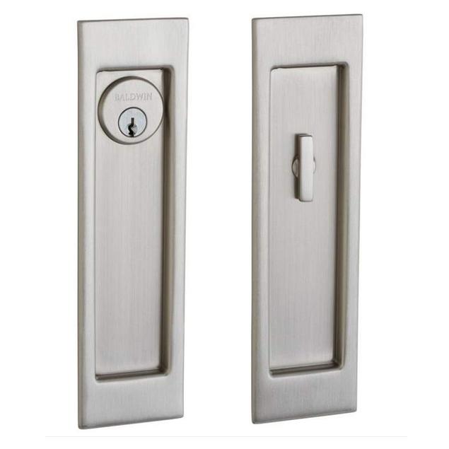 Baldwin Estate PD005.150.ENTR Santa Monica Keyed Entry Sliding Pocket Door Set