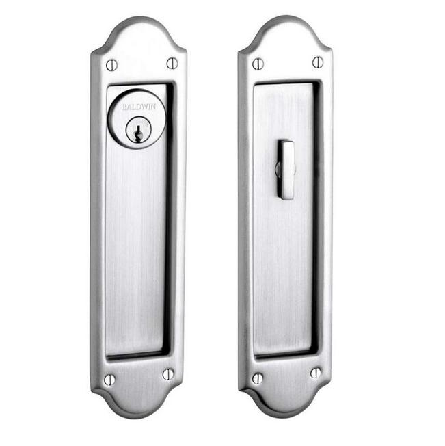 Baldwin Estate PD016.150.ENTR Boulder Keyed Entry Sliding Pocket Door Set