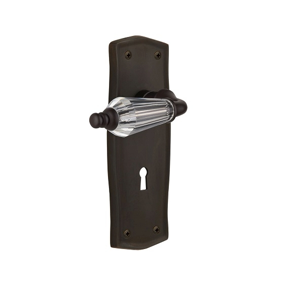Nostalgic Warehouse Prairie Backplate with Parlour Lever Oil Rubbed Bronze (OB)