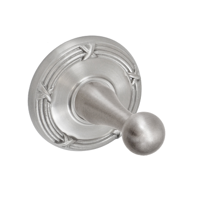 Fusion Decorative Series Robe Hook with Ribbon and Reed Rose Brushed Nickel
