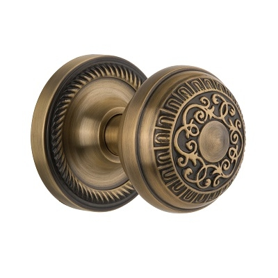Nostalgic Warehouse Egg & Dart Privacy Mortise with Rope Rose Antique Brass