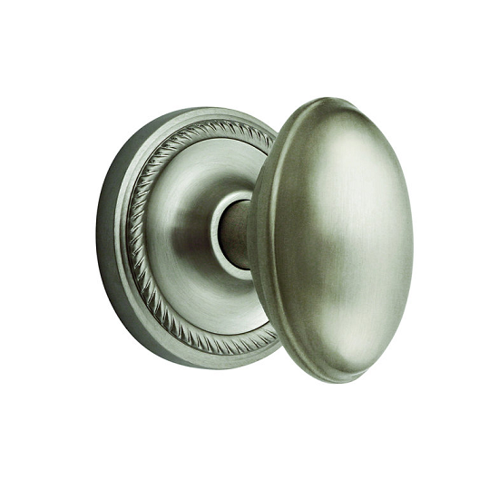 Nostalgic Warehouse Homestead Privacy Mortise with Rope Rose Satin Nickel