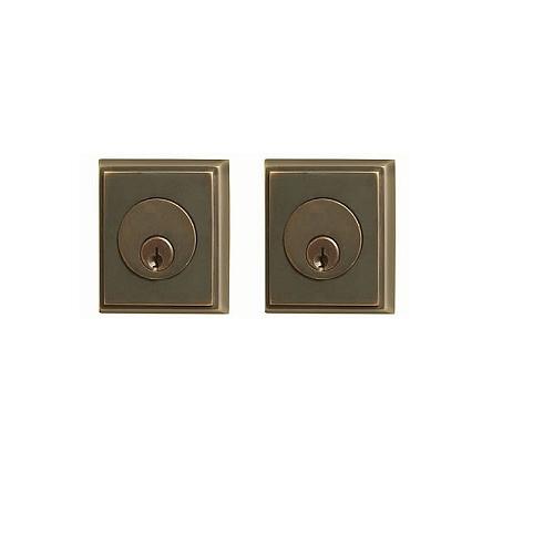 emtek rectangular double cylinder deadbolt oil rubbed bronze us10b