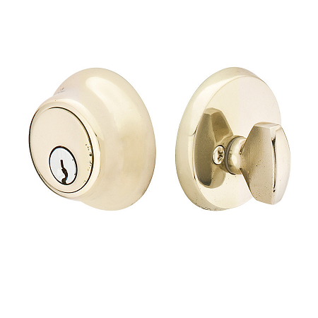 Emtek 8450-BZ Bronze Regular Style Single Cylinder Deadbolt White Bronze