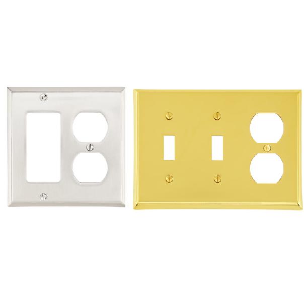 Emtek Colonial Rocker 1 Duplex 1 Switchplate/Emtek Colonial Toggle2 Duplex 1 Swi