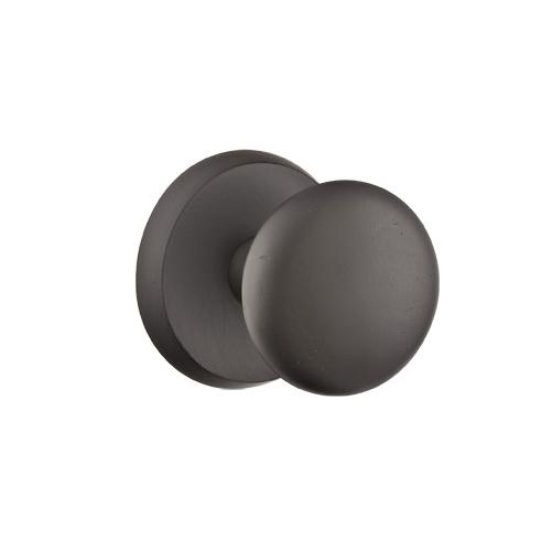 Emtek Winchester Door knob with #2 Rose Flat Black Patina (FB)
