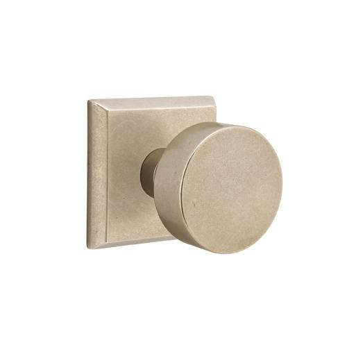 Emtek Bronze Round Door Knob with #6 Rose Tumbled White Bronze (TWB)
