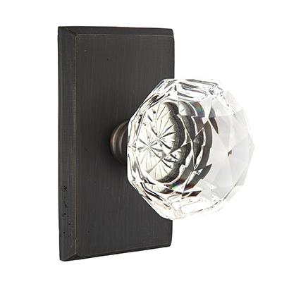 Emtek Bronze Diamond Crystal Door Knob Set | Low Price Door Knobs