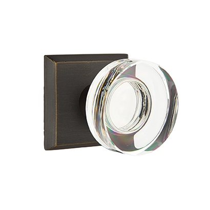 Emtek Bronze Modern Disc Crystal Door Knob Set Low Price