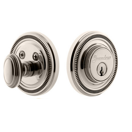 Grandeur Soleil Single Cylinder Deadbolt Polished Nickel