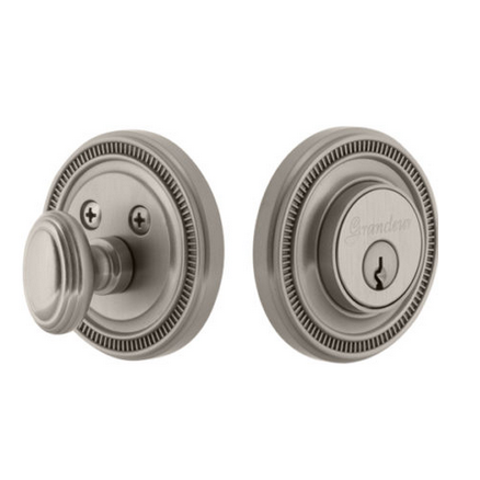 Grandeur Soleil Single Cylinder Deadbolt Satin Nickel