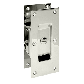 Deltana SDL60-14 Decorative Privacy Pocket Door Lock Polished Nickel