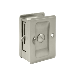 Deltana SDLA325 Heavy Duty Privacy Pocket Door Lock in Satin Nickel (US15)