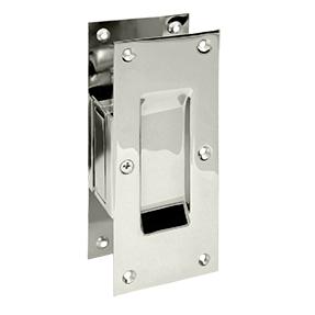 Deltana SDP60-14 Decorative Passage Pocket Door Lock Polished Nickel
