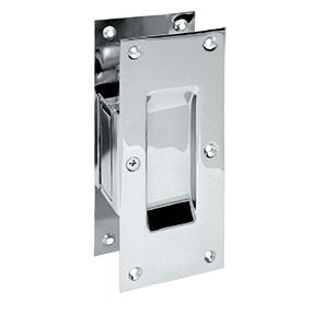 Deltana SDP60-26 Decorative Passage Pocket Door Lock Polished Chrome