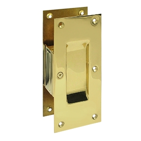 Deltana SDP60-3 Decorative Passage Pocket Door Lock Polished Brass