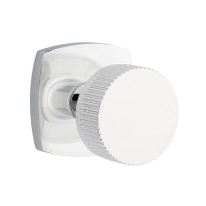 Emtek Select Straight Knurled Door Knob Set with Conical Stem