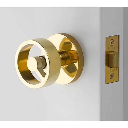 Emtek 5109SPKUS3NL Spoke Studio Brass Door Knob Set Unlacquered Brass