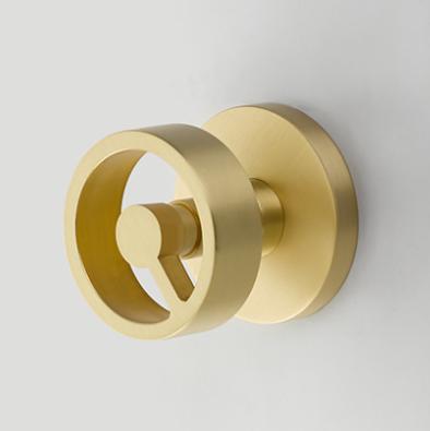 Emtek 5109SPKUS4 Spoke Studio Brass Door Knob Set Satin Brass