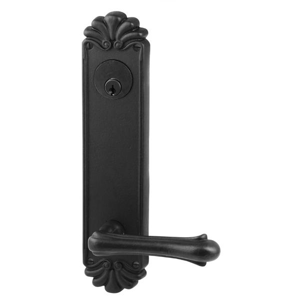 Emtek 6620 #16 Keyed Sideplate Flat Black Patina (FB)