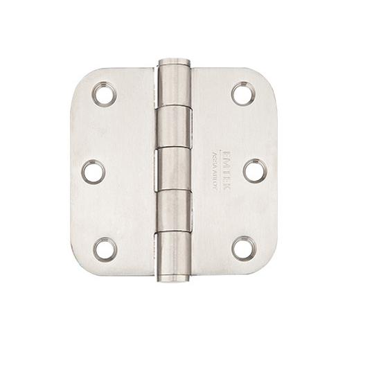 Emtek 3-1/2 x 3-1/2 Stainless Steel Radius Corner Residential Hinges 9813332D