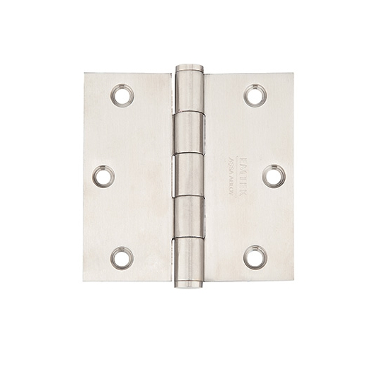 Emtek 3-1/2 x 3-1/2 Stainless Steel Square Corner Residential Hinges 9811332D