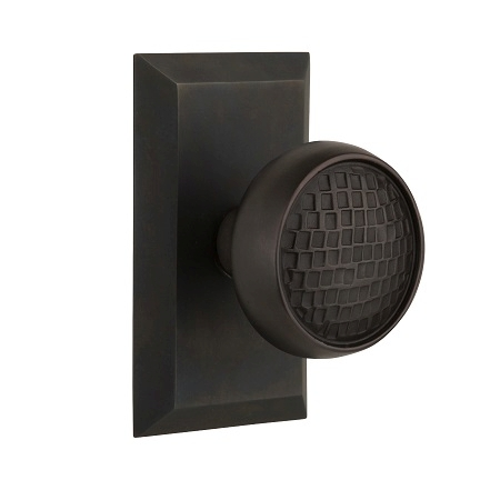 Nostalgic Warehouse Studio Plate with Craftsman Knob Oil Rubbed Bronze