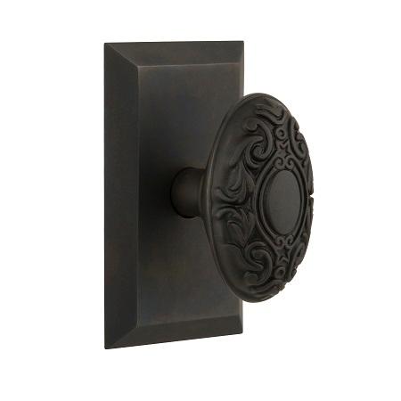 Nostalgic Warehouse Studio Plate with Victorian Knob Oil Rubbed Bronze
