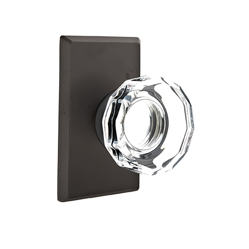 Emtek Bronze Lowell Crystal Door Knob Set Low Price Door