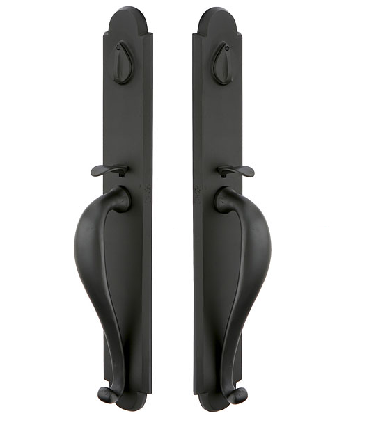 Emtek 454333 Greeley Grip By Grip Handleset Flat Black Patina (FB)