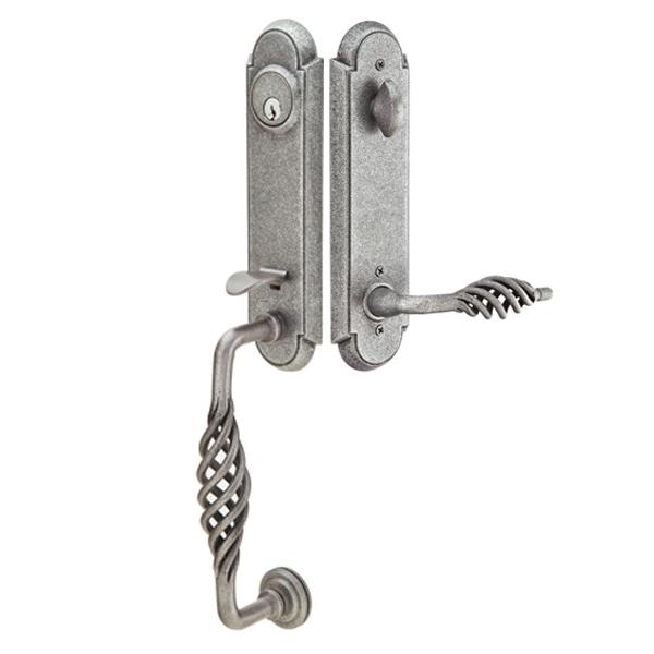 Emtek Wrought steel Monolithic w/Lafayette Grip and Lever 460111, 461111, 462111