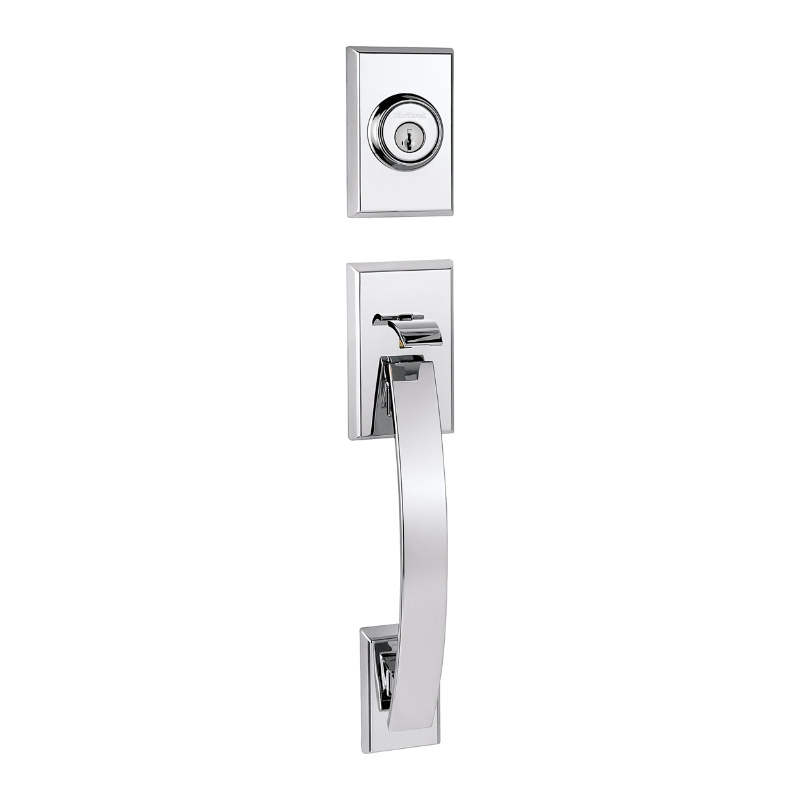 Kwikset Tavaris Handleset shown in Polished Chrome (26)