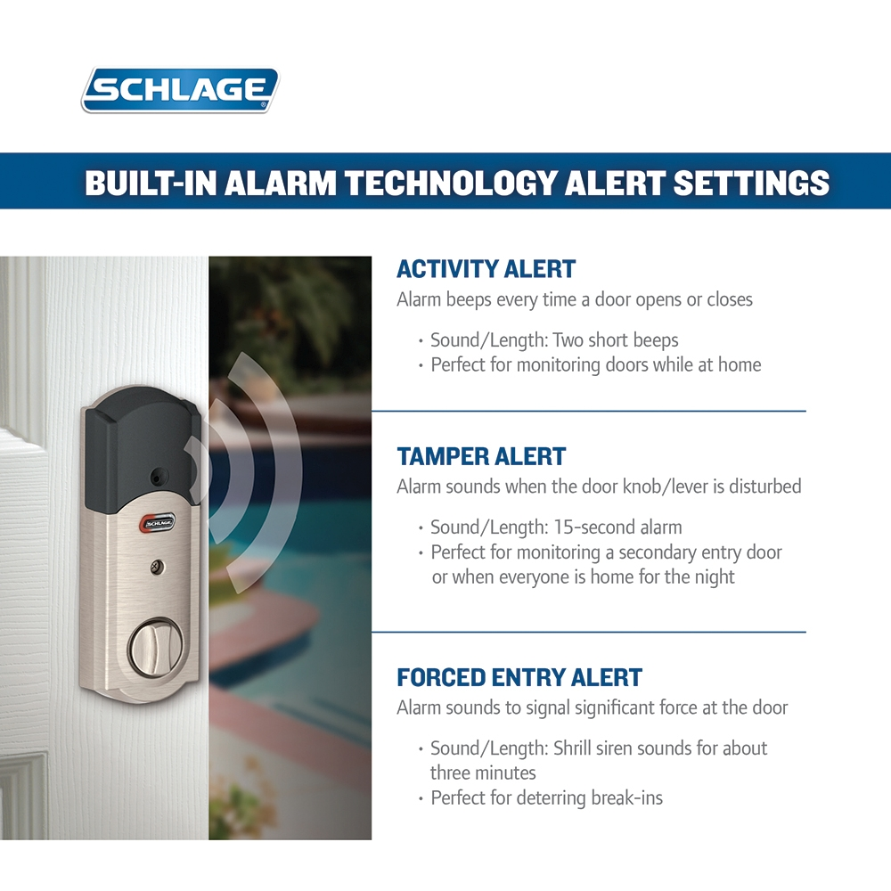 Schlage Be469nx Cam Camelot Touch Screen Deadbolt With