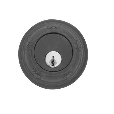 Emtek 8456 Tuscany Style Single Cylinder Deadbolt Flat Black (FB)