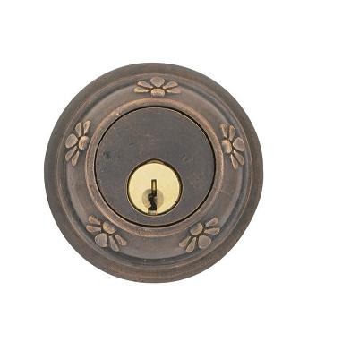 Emtek 8456 Tuscany Style Single Cylinder Deadbolt Medium Bronze (MB)