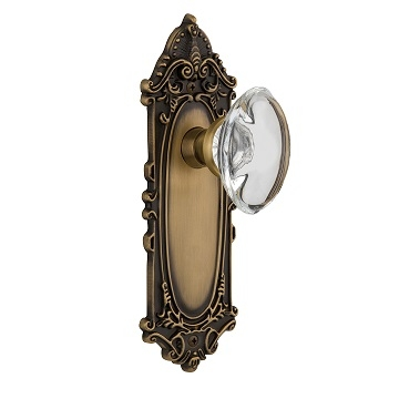 Nostalgic Warehouse Victorian Backplate with Oval Crystal knob
