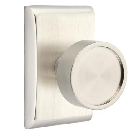 Emtek Modern Verve Door Knob Set with Neos Rose Satin Nickel